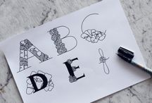 Typography/Hand lettering by Kaja Hoeglund
