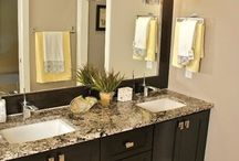 Ideas for our ghetto bathroom remodel / by Michelle Bates