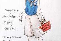 Fashion Illustration Ideas / Sketch daily cozy nice looks, ideas on what to wear.