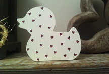 Hand-painted Wooden Shapes
