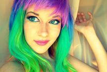 Hair: Rainbow Inspired / Locks in All Shades of the Rainbow