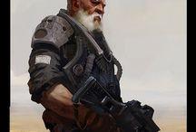 Characters. Sci-fi/post apo