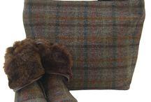 Chantam / Harris Tweed Handbags, shoes and boots