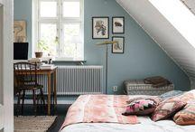 white aqua bedroom