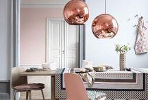 Cobre na decoração / Versátil, a cor cobre da um toque de glamour na decoração!