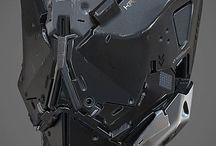 Cyborg/mecha heads