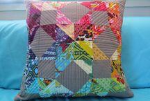 Patchwork Pillows / Quilted pillows.