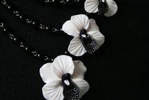 орхидеи из глины