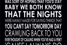 Lyrics and bands