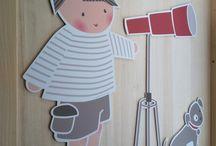Siluetas PVC / Siluetas de PVC para decorar habitaciones infantiles