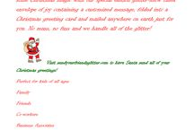 Magical & Amusing Letters From Santa & Holiday Glitter Greetings @ Sendyourfriendsglitter.com! / Personalized letters from Santa for the special children in your life. Customized Christmas glitter greetings for your whole list!