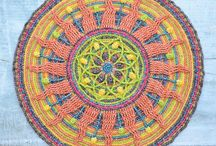 crochet and knitted mandalas