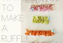 7 ways to make  ruffles