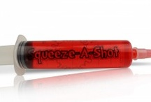 Fun Shooters / Jello Shooter Syringes are the next craze to take shots. Infuse your favorite alcohol into a jello mix and boom....you're party is instantly that much better. Check Out: www.squeeze-a-shot.com