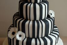 Black and White Cakes / many shades of gray, black and white