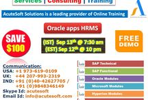 Oracle apps HRMS Online LIVE FREE DEMO from Acutesoft with Real time scenarios.