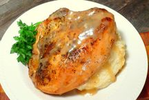 Split chicken breast in crock pot