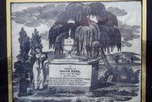 War of 1812 / 'mourning handcrafts', memorabilia,  Dolly Madison, memorials, etc.