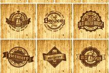 Логотипы кафе, пиво Винтаж