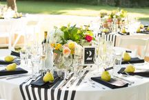 Table Settings - Black & White / pure and simple.