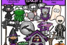 Educlips Halloween Clip Art / Halloween themed clip art sets.
