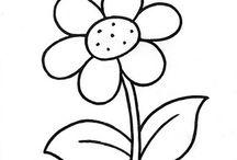 tekeningen bloemen