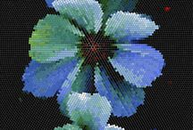 Floral Mosaic Collection /  Примеры мозаичных панно, которые мы можем создвать для вас на нашем производстве.  Examples of Mozzle mosaic panels which we can assemble for you by our robotized technic