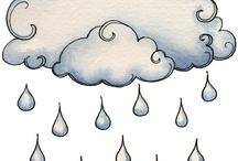 chmurki  krople deszczu
