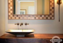 Powder Room Ideas / This board is full of fun powder room colors, designs and sink ideas!