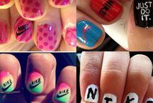 Adidas&Nike fingernails