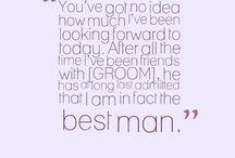 Best man speak