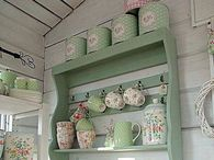 Shabby chic green / Furniture and decor in sea foam green / by Patricia Rose