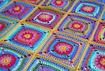 Crochet Blankets / Inspiration for the crochet blanket I want to make - bright, colourful, and cheerful!