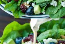 salad and veg meal
