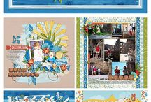 Scrapbook holiday pages