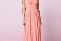 Bridesmaid's dresses / salmon