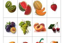 Bildkarten Obst und Gemüsen