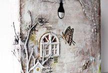 canvas tak en raam