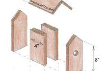 Fuglehus / Forskjellige fuglehus og hvordan man lager dem.