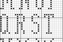 Sticken Alphabete und Zahlen