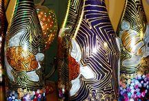 Бутылки роспись