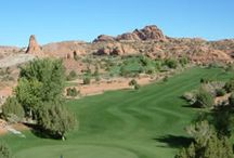 Utah's Beautiful Golf Courses - Some of The Best / Though Utah is known for it's fabulous snow, golf can be played year-round on some of the most highly rated courses in the country.  Here is a sampling.