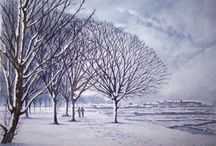Winter Scenes in Art / Winter is such a stunning time of year for artists to capture wonderful scenes.