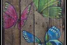 schilderen op steiger hout