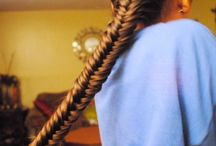 Straight hair....