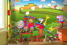 Child's room / http://demural.co.uk/photo-wallpapers/child-s-room