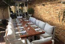 Terras meubilair / Ook voor terras, restaurant meubelen bent bij YamBee-Meubelen aan het goede adres voor het maken van stoelen, banken, tafels, kasten en loungehoeken. Meer weten kijk dan op onze webshop www.yambee.nl of neem contact op via info@yambee.nl
