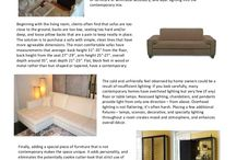 Interior Design Trends - PDF Articles / Illustrated articles with tips and great ideas for interior design.