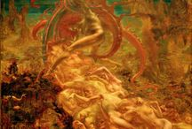 Jean Delville Occult Art / Jean Delville was a symbolist painter, author, poet, hermetic philosopher, teacher and occultist from Belgium. Delville helped organized the Salons d'Art Idéaliste; a group whose goal was to continue the tradition of idealistic Art. Delville traced this idea-based Artwork all the way back to the ancient Greeks and Egyptians. Through his painting and ideology he became a leading exponent of the Belgian Idealist and symbolist movements in art during the 1890s.