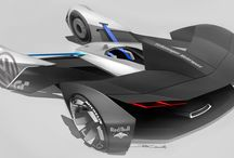 Car sketch and rendering